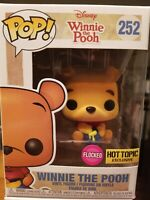 FLOCKED Fuzzy Funko Pop Winnie the Pooh  252  Hot Topic Exclusive vinyl figure