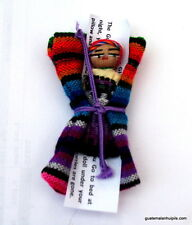 "1 Guatemala WORRY DOLL ""COZY"" POUCH with 2 "" doll"