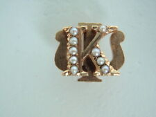 USA FRATERNITY PIN KAPPA PSI. MADE IN GOLD. NAMED. 555