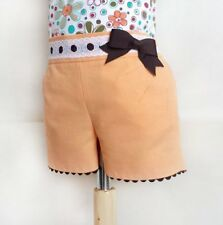 PAPER Printed SEWING PATTERN Girls shorts with pockets baby toddler spanish kids