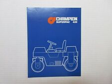 Champion SuperPac 420 Compaction Roller Color Literature