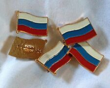 Russian Flag Lapel Pin LOT of 5 Pins RUSSIAN FEDERATION FLAG Made in Russia