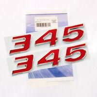 2x Red 345 Emblem Badge decal 3D for Dodge Challenger Chrysle HEMI 345 NEW 2