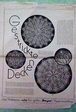 Alte Strickmuster von 1929, Die Modenwelt, Woll- und Seidenstickerei