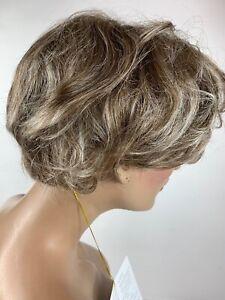 New Vtg Christine Jodan Wig Brown Grey Short Original Box Montana Gentle Curls