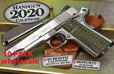 LOT of 10 2020 HANDGUN WALL CALENDAR COLT 1911 pistol gun nra wholesale tactical