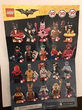 COMPLETE SET OF 20 LEGO BATMAN MOVIE SERIES 1 MINI-FIGURES
