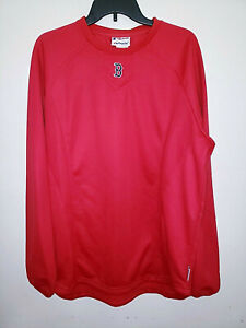 Mens Majestic Therma Base Boston Red Sox Batting Shirt Pullover Size Large L