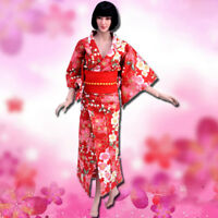 """1/6 Scale Traditional Japan Japanese Kimono for 12"""" Female Action Figure Body"""