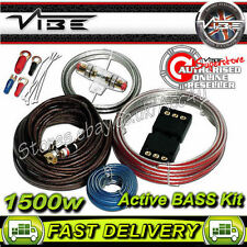 Vibe 8 AWG Gauge Flat 1500 W Active BASS SYSTEM AUTO Amp Amplificatore cablaggio KIT