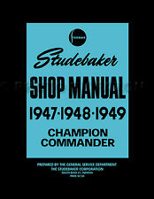 1947 1948 1949 Studebaker Car Shop Manual Champion Commander Repair Service