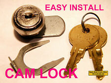 CAM LOCK, TWO KEYS & RETAINING CLIP - HUDSON LOCK COMPANY - VERY EASY TO INSTALL