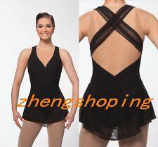 Figure Skating Dress/Competition ICE SKATING DRESS Crosssing back design 8934-1