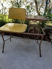 Vtg Mcm Gossip Bench made by Lu Van, Inc Michigan 1960s