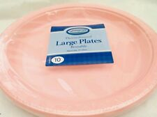 20 x plastic pink reusable 26cm  plate for all occasions