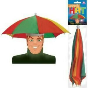 Umbrella Hat - This Hat Looks and Works Like an Umbrella - Keep Your Hands Free!