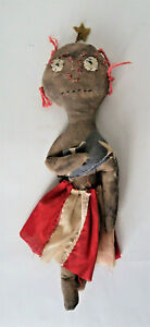 Patriotic Doll Handmade Female clothing is made from US Flag