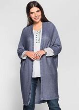 Sheego @ Kaleidoscope Plus Size 22 24 Smoke Blue Oversized CARDIGAN Winter £44