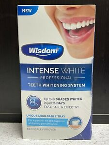 WISDOM INTENSE WHITE PROFESSIONAL TEETH WHITENING SYSTEM UNIQUE MOULDABLE TRAY