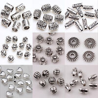 50/100pcs Tibet Silver Loose Spacer Beads Charms Jewelry Making Findings DIY
