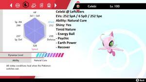 Pokemon Sword and Shield 6iv Shiny Celebi Legit 🚀INSTANT DELIVERY🚀