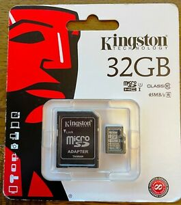 Kingston MicroSDHC SDC10/32GB 32GB Class 10 Flash Card with SD Card Adapter