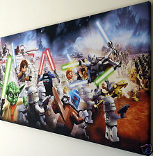 LEGO STAR WARS CANVAS PRINT WALL ART PICTURE  18 X 32 INCH