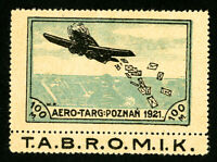 Poland Stamps San # 52 XF OG H Large Air Label