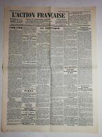 N1103 La Une Du Journal L'action française 31 Janvier 1933 la politique