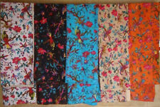 Indian handmade King size Bird print kantha quilts Ethnic Cotton blankets 10 pcs