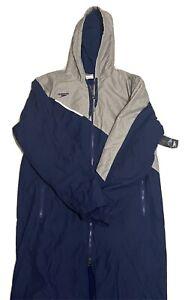 New Speedo Unisex Team Swim Parka - Unisex Navy Size M Hooded Fleece lined