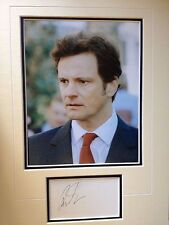 COLIN FIRTH - AWARD WINNING ACTOR - SUPERB SIGNED COLOUR  PHOTO DISPLAY