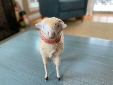 Putz Sheep Germany German Wooly Stick Leg Composition Antique Nativity Toy