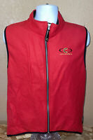 CANNONDALE MEN'S SIZE L RED POLARTEC FLEECE CYCLING VEST SLEEVELESS FULL ZIP UP