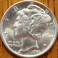 1941 Mercury Dime Uncirculated  **Check it Out** #AA261-8