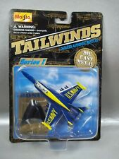 NIB 1998 MAISTO TAILWINDS US NAVY F-18C HORNET FIGHTER JET DIE CAST BOX W/WEAR