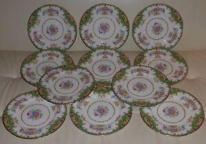 SHELLEY SHERATON GREEN #13290 Dinner Plate (SELL INDIVIDUALLY)