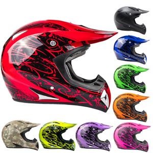 Typhoon Adult Dirt Bike Helmet ATV Off Road ORV Motocross Helmet DOT Motorcycle
