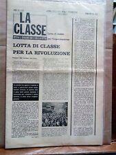 La Classe-Giornale delle lotte operaie e studentesche-Contestazione-Anni '60