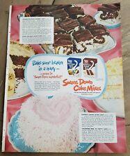 1952 swans down cake mixes instant devil's food coconut marble lemon layer ad