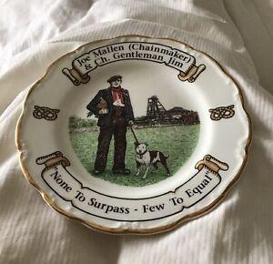 Staffordshire Bull Terrier Plate - Joe Mallen