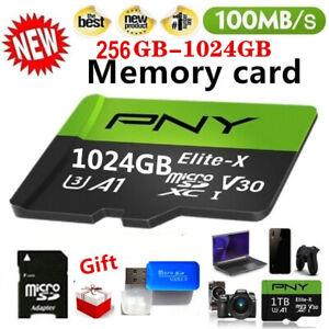 2021 NEW 1TB/512GB/256GB/64GB PNY Micro SD TF SDXC Flash Memory Card Class 10