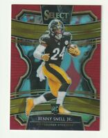 2019 Panini Select Prizm Red Rookie Benny Snell Jr. RC SP 24/99 Jersey Steelers