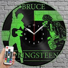 LED Clock Bruce Springsteen Vinyl Record Wall Clock Led Light Wall Clock 3839