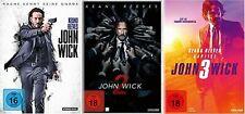 3 DVDs * JOHN WICK  KAPITEL 1 + 2 + 3 IM SET ~ FSK 18 # NEU OVP /$