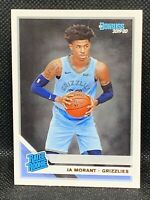 2019-20 Donruss Rated Rookie Base Ja Morant RC #202 MEMPHIS GRIZZLIES ROY (b)