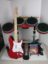 Rock Band 4 Red PS4 Drum Mic Guitar Game Bundle Target