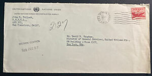1957 USA APO 301 United Nations Korean Reconstruction Cover To New York
