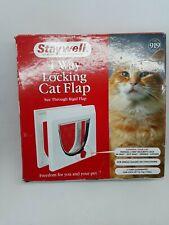 PetSafe Staywell Manual 4 Way Locking Classic Cat Flap White - No Tunnel 919EF