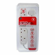 2m Masterplug 4 Socket Mains Power Extension Lead Surge Protected 13A 240V White